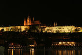 Praga nocą — Zdjęcie stockowe