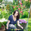 Young woman gardening — Stock Photo #11381017