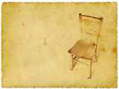 Alten holzstuhl auf vintage hintergrund — Stockfoto
