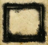 Schwarz grunge frame — Stockfoto