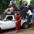 Stock Photo: Overloaded pick-up in Bagan, Myanmar