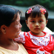 Myanmar mother and daughter portrait — Stock Photo #10911955