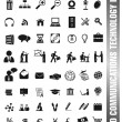 World communications icons — Stok Vektör