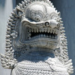 Lion sculpture detail, Bangkok, Thailand — Stock Photo #11591783