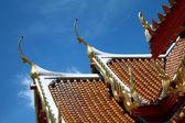 Bangkok temple roofs — Stock Photo