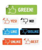 Approval paper stickers collection isolated on white — Stock Vector