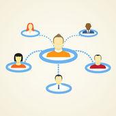 Schema astratto del social network — Vettoriale Stock