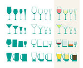 Full and empty glass collection — Stock Vector