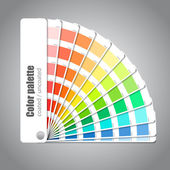 Color palette guide on grey background — Stock Vector
