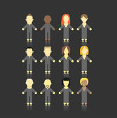 Set of men and women abstract figures. — Stock Vector