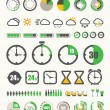 Different indicators collection — Stock Vector #11154349