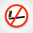 Stock Vector: No smoking. Grunge sign