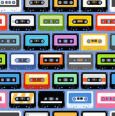 Vintage analogue music recordable cassettes — 图库矢量图片