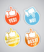 Collection de stickers papier approbation — Vecteur