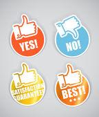 Collection de stickers papier approbation — Vecteur