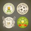 Vintage beer labels collection — Stock Vector