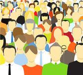 La foule de résumé — Vecteur