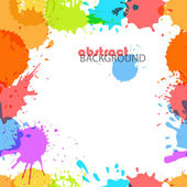 Color ink blots seamless background — Stock Vector