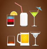 Beverages vector collection — Stock Vector