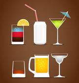Colección de vectores de bebidas — Vector de stock