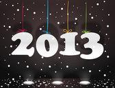 Cyfry 2013 na kolor liny. szczęśliwego nowego roku — Wektor stockowy