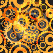 Background or different gear wheels — Vector de stock