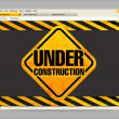 Stock Vector: Under construction site template