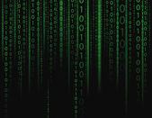 Stream on binary codes on black background — Stock Vector