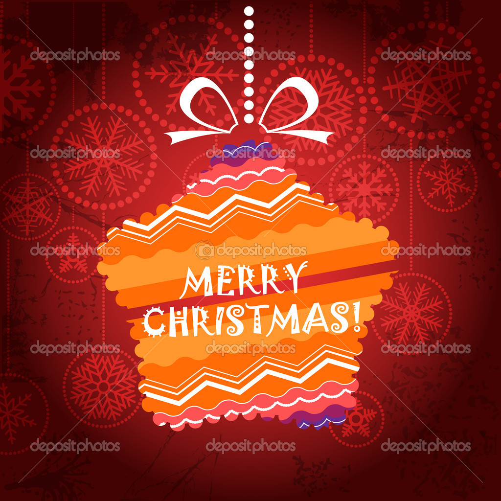 Vintage style Christmas greeting card with ornamented star — Stock Vector #12256161