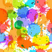 Color ink blots seamless background — Vector de stock