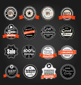 Shopping labels collection. Premium quality, Satisfaction etc on — Stock Vector