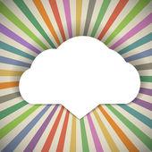 Plantilla de nube de discurso con los rayos de color — Vector de stock