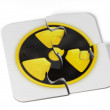 Danger radioactive sign puzzle - Stock Photo