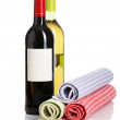 Stock Photo: Bottle of red and white wine