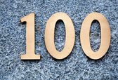 Number 100 — Stock Photo