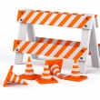 Traffic cones - Stockfoto