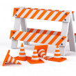 Traffic cones - Foto Stock