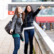 Two girls on walk — Stock Photo