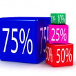 Stock Photo: Percentage