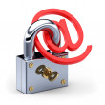 E-mail and padlock — Stock Photo