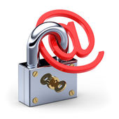 E-mail and padlock — Stock Photo