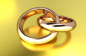 Gold rings — Foto Stock