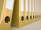 Yellow folders — Stock Photo