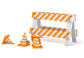 Traffic cones — Stockfoto