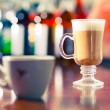Coffee   at the bar table — Stock Photo