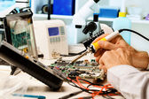 Repair circuit boards — Stock Photo
