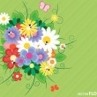 Flower vector colorful background — Stock Vector