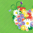 Flower vector colorful background - Stock Vector