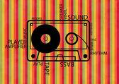 Vector music background — Stock Vector