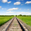 Motion blurred railway - Stock Photo